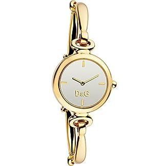 D&G Dolce&Gabbana DW0395 – Reloj analógico de mujer de cuarzo con correa de acero inoxidable dorada
