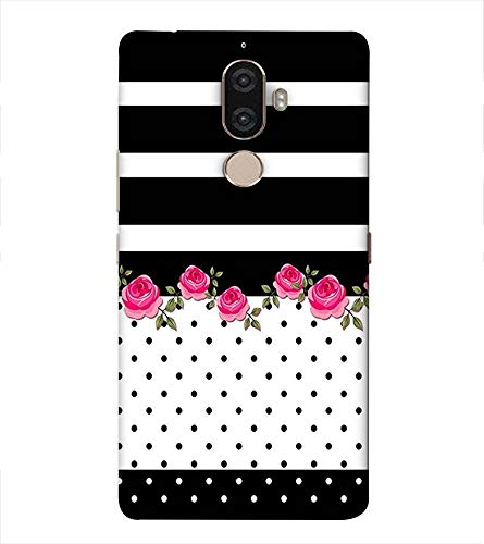 printtech Latest Designer Printed Mobile Back Cover for Lenovo K8 Note (Pink Rose with Black and White Dotts)
