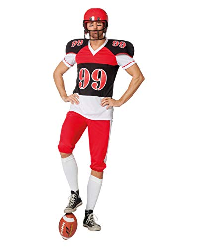 Football Spieler Herrenkostüm für Fasching 52