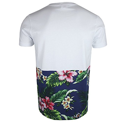 Franklin Marshall TSMAL266 & Print T-Shirt Tropical, Weiß Weiß - Weiß