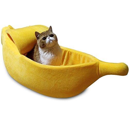 Petgrow - Cama para Gatos de plátano, Cama para Mascotas,...