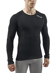 Sub Cold Men'Spannbetttuch Sports Herren Merino Base Layer Long Sleeve schwarz