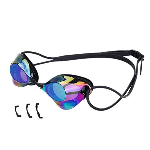 CMZWK Schwimmbrille Adult Professional Waterproof Anti Fog Race Racing Schöne Praktische Ungiftige Geschmacksneutrale Trainings-Schutzbrille,Blau (Racing-schutzbrillen Speedo)