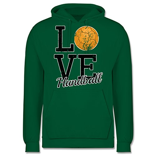 Handball - Love Handball - Männer Premium Kapuzenpullover / Hoodie Grün