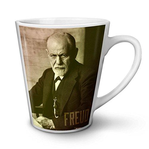 Wellcoda Berühmtheit Sigmund Freud Latte BecherBerühmt Kaffeetasse - Komfortabler Griff, Zweiseitiger Druck, robuste Keramik