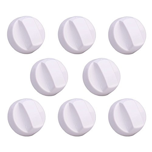 First4Spares Premium Universal Backofen Herd Herd Control Switch Knob 8 Pack - Weiß -