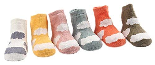 La vogue 6 Paare Babysöckchen Erstlingssöckchen Farbe Zufällig 0-12 Monate Baby (S-9.5cm lang)