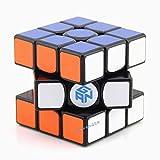 PGYZ Cubo de Rubik de Tercer Orden Ceguera de Velocidad Negro Suave Juguete de descompresión para Adultos de Tercer Orden de Rubik Cubo de Fondo Blanco