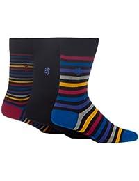 Pringle Mens Pack Of Three Multi-Coloured Striped Socks From Debenhams