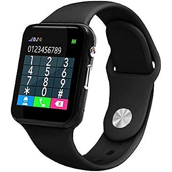 Vbestlife Reloj Inteligente para Niños,Reloj Digital Pulsera Compatible con Internet G / 2G Funciones de Cámara,Llamada, Reloj Despertador, ...