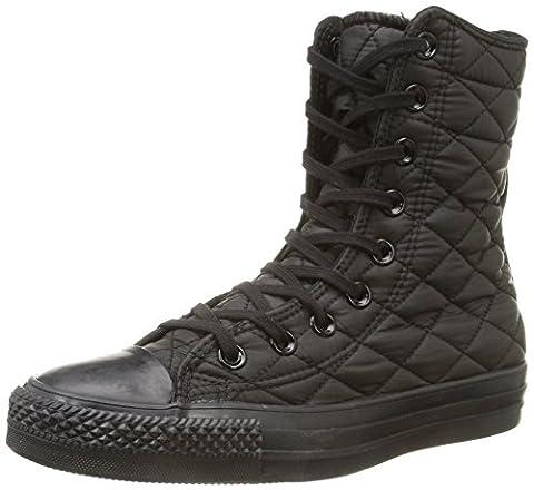 Converse - All Star Hi Rise Textile Quilt - , homme, noir (black), taille 35