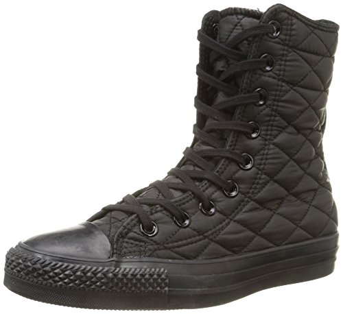 Converse, All Star Hi Rise Textile Quilt Sneaker,Donna, Nero (Black), 36