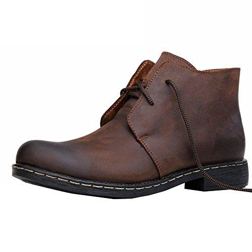 [Chaussures de Ville] Basses Homme Antidérapante Chaussures en Cuir Homme Léger Marche Respirant Quotidien Confort-iisport Brun