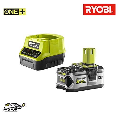 Preisvergleich Produktbild Pack Akku Ryobi 18V OnePlus 5.0AH lithiumplus–1Schnellladegerät 2.0Ah rc18120–150