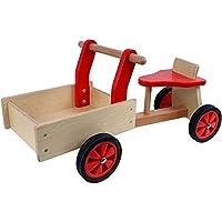 Patín de de madera de color rojo de motricidad de juguete Niño de juguete para el Aprendizaje PW 2063