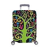 Abstrakte Bunte Buchstaben Muster Spandex Trolley Reisegepäck Beschützer Koffer Abdeckung 28,5 X 20,5 Zoll