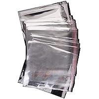 CHGCRAFT 100 Piezas Transparente OPP Bolsas de Celofán Bolsas de Celofán para Tratar Alimentos Ideal para Panadería Pan Dulces Galletas Pasteles Jabón Vela Envoltura de Regalos, 20x18 cm
