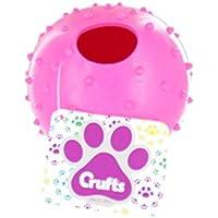 Preisvergleich für Crufts Bunte große Gummi-Hundewelpen-Spiele & Treat Ball - 9 cm - Rosa