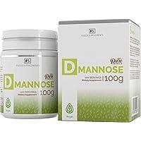 D Mannose 100 % Reines Pulver - Focus Supplements - Blasengesundheit | Harnwegsinfekt | Immunsystem - Ohne Zusätze - Cranberry-Kraft - Verpackt in einem ISO-zertifizierten Betrieb in GB (100g)