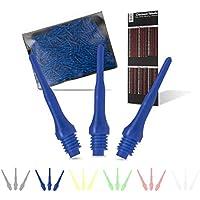 Tindola MAX Dartspitzen aus Kunststoff, 500 Stück Soft Spitzen aus Plastik für Elektronisches Dart, 2BA Gewinde