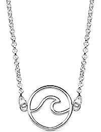6d4c6c40497e Iyé Biyé Jewels - Collar mujer niña plata de ley 925 ola de mar 12 mm