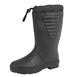 mens gents wellington wellies snow fur lined boots uk 6-12 black - 410RZZ2PMPL - Mens Gents Wellington Wellies Snow Fur Lined Boots UK 6-12 Black