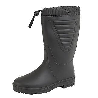 Mens Gents Wellington Wellies Snow Fur Lined Boots UK 6-12 Black 12
