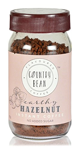 Country Bean Instant Coffee Powder | Hazelnut Flavoured Coffee 60 g