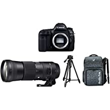 "Canon EOS 5D Mark IV 30.4MP DSLR Camera (Body) + Sigma 150-600mm f/5-6.3 DG OS HSM Contemporary Lens + Digitek 550LW Tripod + Arctic Fox Camera Bag with Lens, 15.5"" Laptop & Tripod Holder"