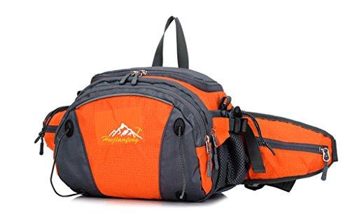 Fortuning's JDS Multifunktions-wasserdichte Nylonsportrucksack Hüfttasche Umhängetasche Orange