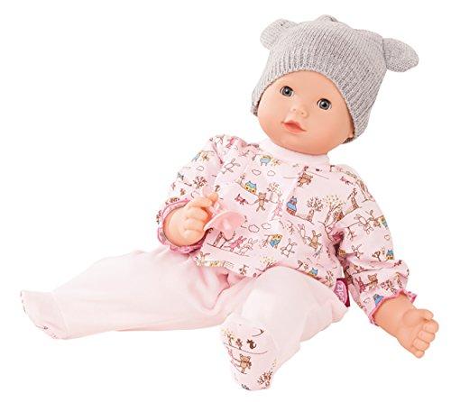 Götz 1827992Maxy Muffin Companions muñeca–42cm grandes Baby muñeca con ojos azules Dormitorio, sin pelo y suave Cuerpo–weichkörp muñeca en 4piezas Set