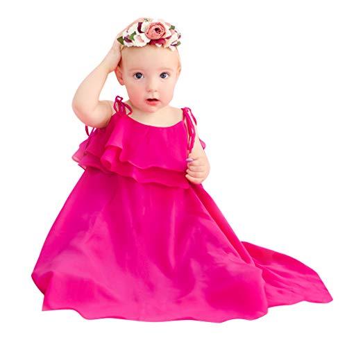 jerferr Baby Kleid Mama, ich Kind Mädchen ärmellose Feste Sling Weste Rüschen Familie Kleidung Kleid