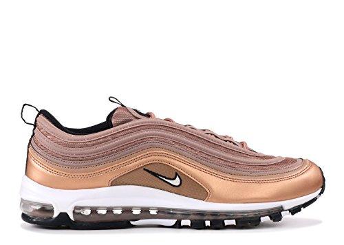 Nike Air Max 97, Chaussures de Gymnastique Homme Beige (Desert Dustwhitemtlc Red Bronzeblack 200)