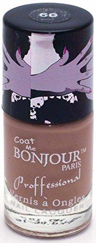 Bonjour Paris Nude Nail Lacquer - Mocha, 0.30 Ounce