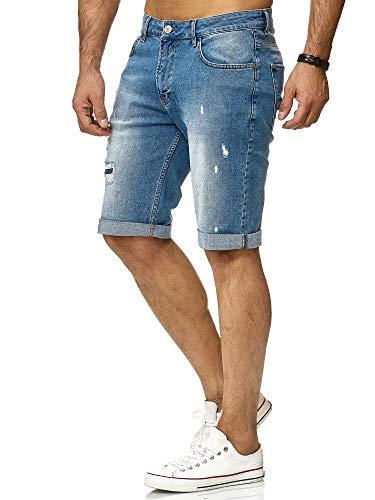 Redbridge Herren Denim Shorts Basic Destroyed Jeansshort Kurze Hose Freizeit Jeans