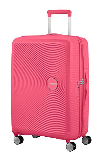 American Tourister Soundbox - Spinner Medium Expandable Koffer, 67 cm, 81 Liter, Hot Pink