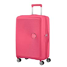 American Tourister Soundbox - Spinner Medium Expandable Suitcase, 67 cm, 81 liters, Pink (Hot Pink)