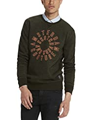 Scotch & Soda Crewneck In Brushed Felpa Quality with Artwork, Sweat-Shirt Homme