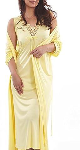 Graziella Luxus Nachtwäsche-Set Astrid Nachthemd + Morgenmantel aus Micromodal 48/50