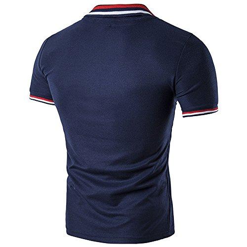 BicRad Herren Polo Shirt Slim Fit Baumwolle Marine