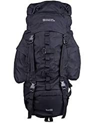 Mountain Warehouse Tor 65L Spacious Rucksack - Ladderlock Back Travel Backpack, Padded Air Mesh Bag, Pockets Camping Bag, Durable Daysack - For All Season Travelling