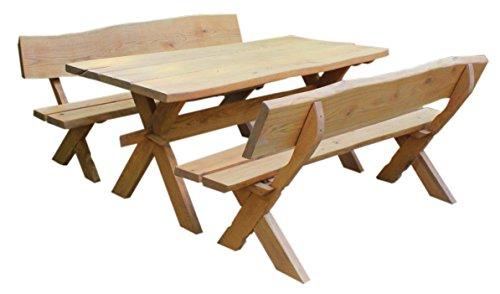 Waidmann 3tlg. Gartenmöbel Set aus Eiche, handgefertigte Sitzgruppe