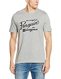 Original Penguin Men's Flocked Script T-Shirt