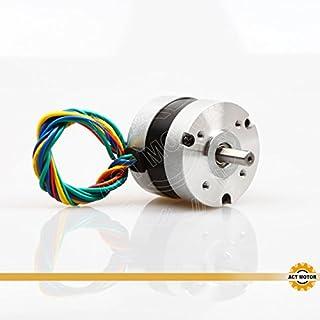 ACT Motor GmbH 1PC BLDC Motor 57BL02 Nema23 46.5mm 0.11Nm 34W 3000RPM Round Shaft Ø8mm Carver Machine 3D-Printer CNC Machine Instrument Laser Equipment