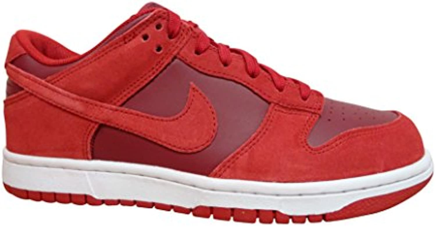 nike Dunk Low Mens Trainers 904234 Sneakers Shoes (US 9.5  gym red team white 601)