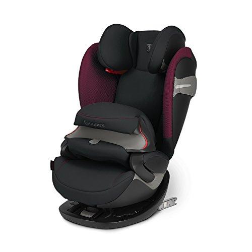 Cybex - Silla de coche grupo 1/2/3 Pallas S-Fix, silla de coche 2 en 1 para niños, para coches con y sin ISOFIX, 9-36 kg, desde los 9 meses hasta los 12 años aprox.Scuderia Ferrari:Victory Black
