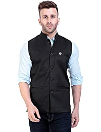 vandnam Slim fit Solid Black Jacket