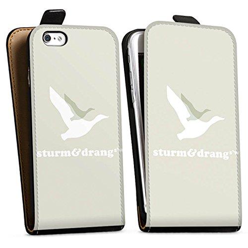 Apple iPhone X Silikon Hülle Case Schutzhülle Vogel Fliegen Sturm & Drang Downflip Tasche schwarz