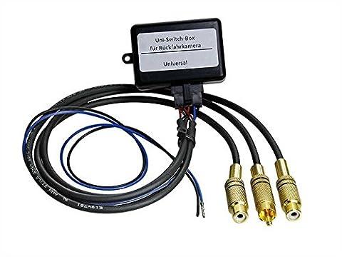 Rückfahrkamera Videoumschaltung 2x RCA Input+1x RCA Out+RFS+12V (Video Umschalter)