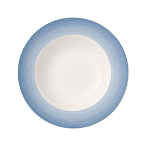 Villeroy & Boch Colourful Life Winter Sky Assiette creuse, 25 cm, Porcelaine Premium, Blanc/Bleu